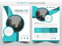 Vector abstracto azul de la plantilla del diseño del folleto de la curva Cartel infographic de la revista de los aviadores del ne ilustración del vector