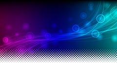 Vector abstracto azul y violeta del fondo Fotografía de archivo