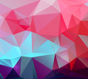 Vector abstracto colorido geométrico triangular Fotografía de archivo