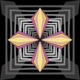 Vector abstracto de la flor del rosa del fondo inconsútil Imagenes de archivo
