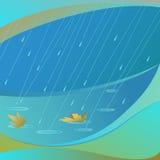 Vector abstracto de la lluvia Foto de archivo
