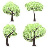 Vector abstracto de los árboles Imagen de archivo