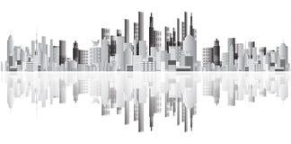 Vector abstracto de los edificios Imagen de archivo libre de regalías