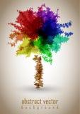 Vector abstracto del árbol Foto de archivo libre de regalías