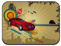 Vector abstracto del coche Fotografía de archivo libre de regalías