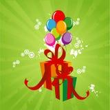 Vector abstracto del cumpleaños Imagen de archivo libre de regalías