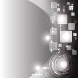 Vector abstracto del diseño del fondo de la tecnología Fotografía de archivo