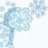 Vector abstracto del Doodle de la flor de la alheña Imagenes de archivo