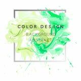 Vector abstracto del ejemplo del cartel del diseño de la textura de la pintura de la acuarela del fondo del arte sobre marco cuad Imagenes de archivo