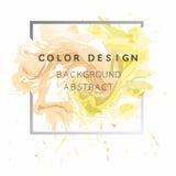 Vector abstracto del ejemplo del cartel del diseño de la textura de la pintura de la acuarela del fondo del arte sobre marco cuad Foto de archivo