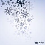 Vector abstracto del fondo de la nieve Fotografía de archivo