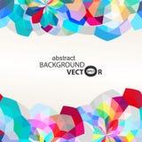 Vector abstracto del fondo del diseño del colorfull de la flor del polígono Fotos de archivo