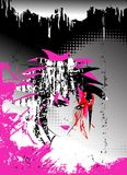 Vector abstracto, fondo de Emo ilustración del vector