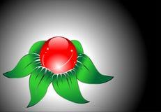 Vector abstracto rojo de la flor Fotografía de archivo libre de regalías