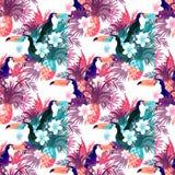 Vector abstracto tropical del fondo Foto de archivo