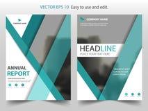 Vector abstracto verde de la plantilla del diseño del folleto del informe anual del triángulo Cartel infographic de la revista de stock de ilustración