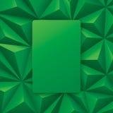 Vector abstracto verde del fondo Imagen de archivo