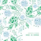 Vector abstrakte blaue und grüne Blattrahmenecke Lizenzfreie Stockbilder