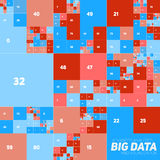 Vector abstrakte bunte große Datendiagrammfinanziellsichtbarmachung Futuristisches Blöcke infographics ästhetisches Design sichtl Lizenzfreie Stockbilder