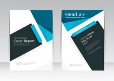 Vector abstrakte Designrahmenabdeckungs-Berichtsplakatschablone stock abbildung