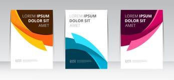 Vector abstrakte Designrahmenabdeckungs-Berichtsplakatschablone lizenzfreie abbildung