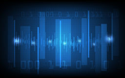 Vector abstrakte digitale Welle und High-Techen Musterhintergrund Lizenzfreies Stockfoto