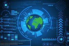 Vector abstrakte Hintergrundtechnologieinnovation der zukünftigen Welt Stockfotos
