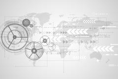 Vector abstrakte Hintergrundtechnologieinnovation der Zukunft Stockfotos