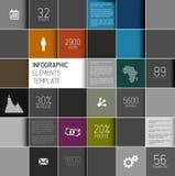 Vector abstrakte Quadrathintergrundillustration/infographic Schablone Stockfotos