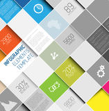 Vector abstrakte Quadrathintergrundillustration/infographic Schablone Lizenzfreie Stockbilder