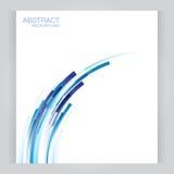 Vector abstrakte Titel der Fahnen mit den Rekta des blauen Rotes Lizenzfreie Stockfotos