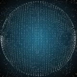 Vector abstrakten Bereich von Partikeln, Punktreihe Futuristische vektorabbildung Stockbilder