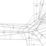 Vector abstrakten geometrischen Hintergrund, Schwarzes a der zeitgenössischen Art Lizenzfreie Stockfotos