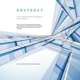 Vector abstrakten geometrischen Hintergrund, technisches Art illustrati Lizenzfreies Stockbild