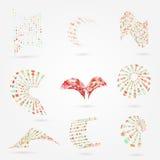 Vector abstrakten Geschäftslogo-Elementsatz der Punkte 3d Stockfotografie