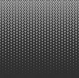 Vector abstrakten Halbtonhintergrund, schwarze weiße Steigungsabstufung Geometrisches Mosaikdreieck formt einfarbiges Muster lizenzfreie abbildung