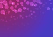 Vector abstrakten Hintergrund mit bokeh Lichtern und Sternen in den violetten Farben Lizenzfreie Stockfotos