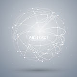 Vector abstrakten Hintergrund mit Punkt und Kurve konstruierte das Bereich wireframe Lizenzfreie Stockbilder