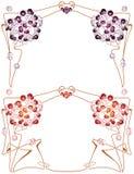 Vector abstrakten Rahmen von den verklemmten Anlagen und von den Blumen Lizenzfreies Stockbild