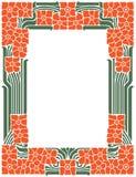 Vector abstrakten Rahmen von den verklemmten Linien und von den Blumen für Dekoration und entwerfen Sie Stockbild