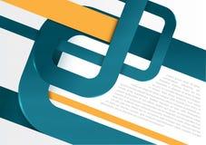 Vector abstrakten Retro- Hintergrund mit blauen Streifen für Plakat Lizenzfreie Stockbilder