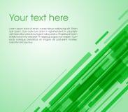 Vector abstrakten schiefen Rechteckhintergrund in der grünen Farbe Stockfotos