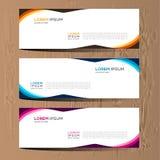 Vector abstraktes Design für Fahnennetzschablone und -hintergrund Modernes Vektordesign ENV 10 Lizenzfreie Stockfotos