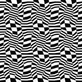 Vector abstraktes Geometriemuster 3d, nahtloser geometrischer Schwarzweiss-Hintergrund des Hippies Stockbild