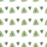 Vector abstraktes Muster für Design, grüne Dreiecke Lizenzfreies Stockbild