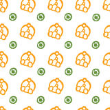 Vector abstraktes Muster für Design, Kreise und Punkte Stockfotos