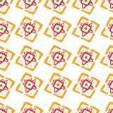 Vector abstraktes Muster für Design, orange Quadrate Lizenzfreie Stockfotografie