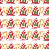 Vector abstraktes Muster für Design, rote Dreiecke Lizenzfreie Stockbilder