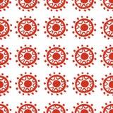 Vector abstraktes Muster für Design, rote Kreise und Punkte Stockfoto