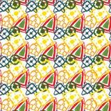 Vector abstraktes Muster für Design, viele geometrischen Formen Stockfoto